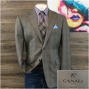 Canali 1934 Men Suit Jacket Blazer Sport Coat Wool